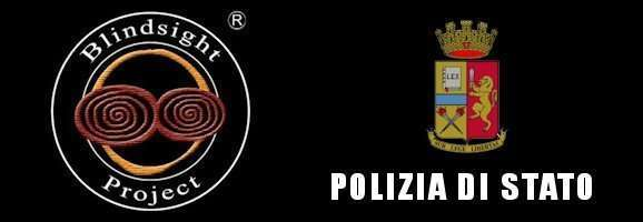 Logo di Blindsight Project e Polizia di Stato