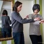 Lisa e Barbara, insegnate di Taiji Quan durante una lezione.