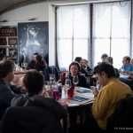 Il gruppo durante il pranzo al ristorante Unisono