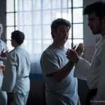 Lorenzo e un atleta della squadra di Judo eseguono un esercizio di Taiji Quan