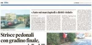 Articolo de Il Tirreno su abusi di parcheggi all'Isola d'Elba