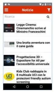 Screenshot della nuova app di Blindsight Project