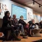 Laura Raffeli nel corso della tavola rotonda sull'accessibilità del cinema alla Festa del Cinema di Roma 2017