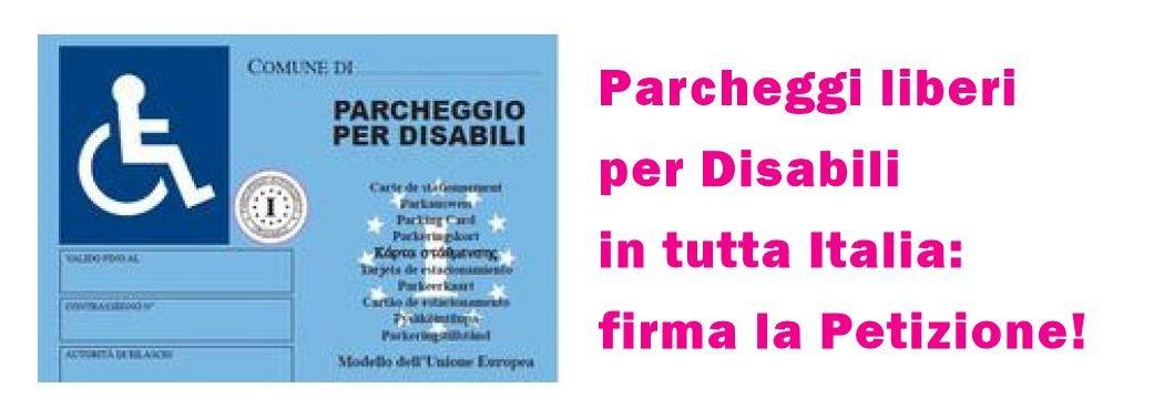Petizione per parcheggi disabili gratuiti in Italia